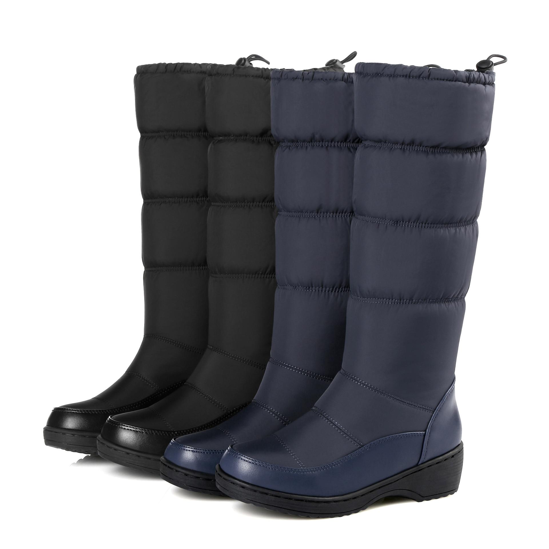 À Velours Hiver Le Épais Chaussures Fond slip Bottes bleu Et Muffin Neige Tube Noir Chaudes De Bottes Non blanc Dans Femmes 88wznq4P