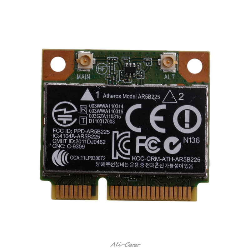 2018 655795-001 654825-001 AR5B225 802.11bgn Bluetooth Wireless Mini PCIE Card For HP
