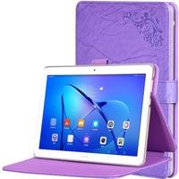 Slim Luxury Silk Grain Flip Stand PU Leather Case Cover For Huawei MediaPad M3 Lite 10
