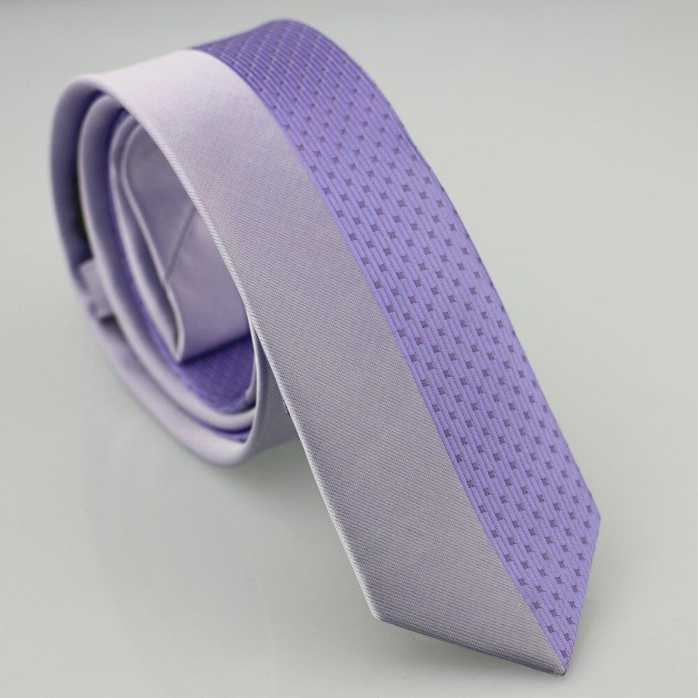 Yibei Coachella Галстуки Сирень галстук половина правды в полоску пледы шеи Галстуки тощие corbatas Седа жаккардовые из микрофибры Для мужчин подарок