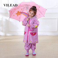 VILEAD Fashion Children Waterproof Raincoats Boys Girls Primary And Secondary Breathable Windproof Rainwear Baby Child Poncho