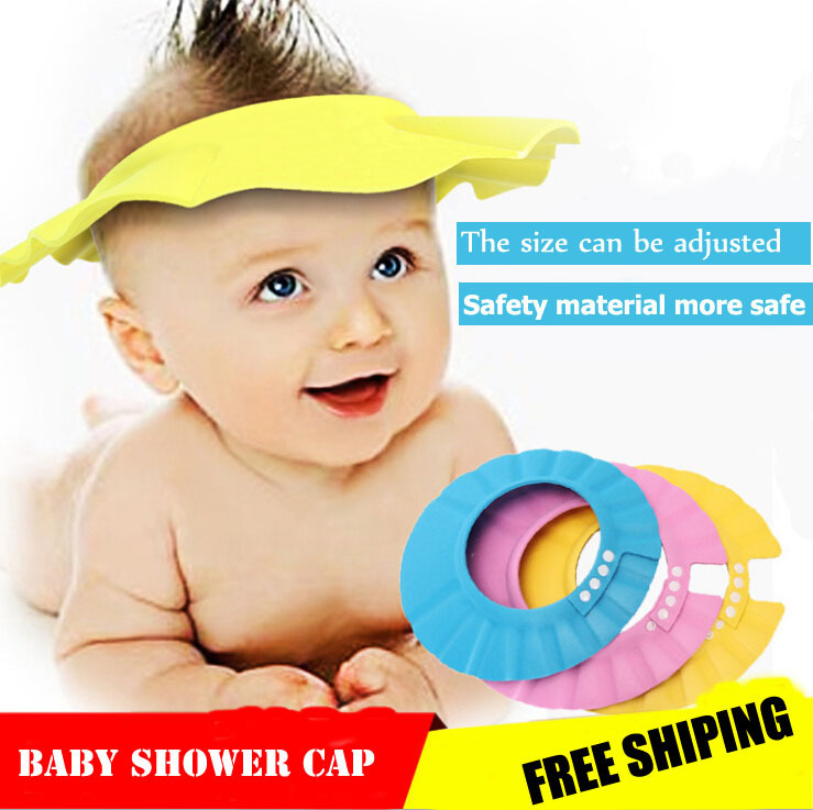 Humor 2pcs Safe Shampoo Shower Bathing Bath Protect Soft Cap Hat For Baby Wash Hair Shield Bebes Children Bathing Shower Cap Hat Kids Caps, Foils & Wraps