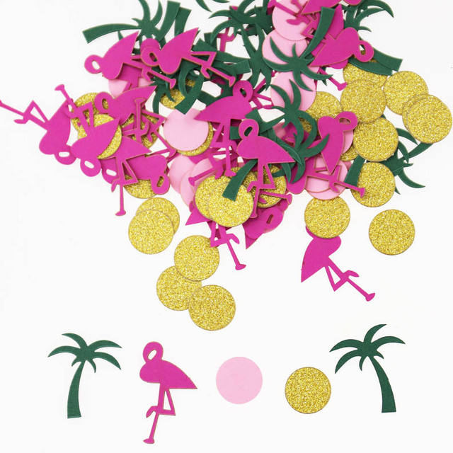 Flamingo and Palm Tree Confetti | Tropical Confetti | Birthday Confetti/Luna party confetti