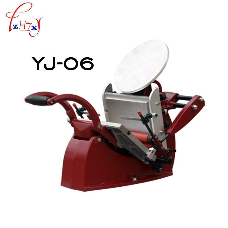 1 шт. ручной буквенный пресс (диск) Печатный пресс для визитных карточек Печатный пресс ручной цветной печатный пресс YJ-06