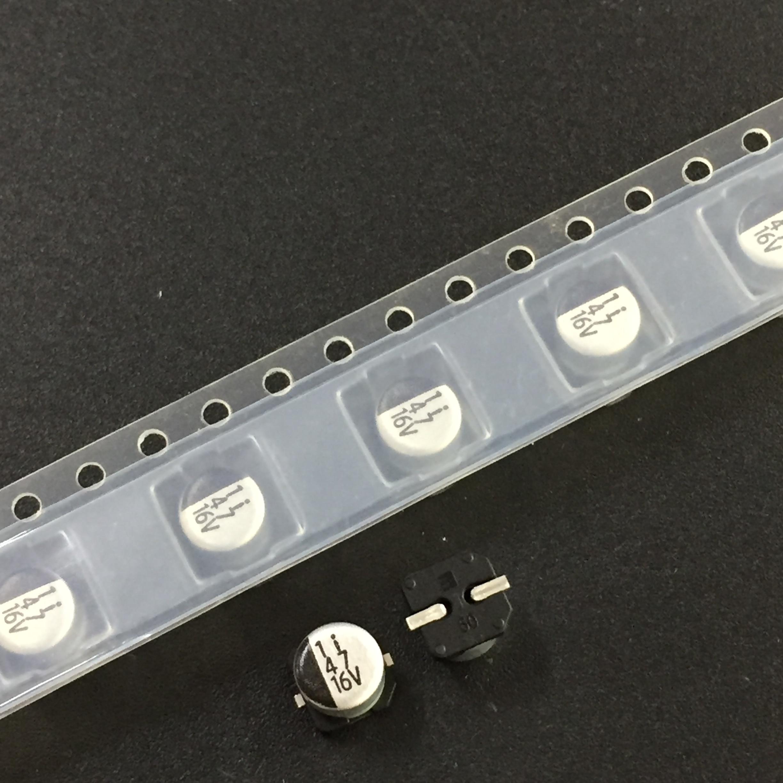 10 pces/50 pces 47f 16 v elna rv3 série 5x5.3mm 16v47uf chip tipo smd alumínio capacitor eletrolítico