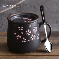 INMYLIFE Ceremic Coffee Milk Tea Mug Office Home Cup Japanese Style 16oz 480ml Home Decoration
