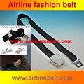 De calidad superior airline aviones avión cinturón de seguridad hebilla de cinturón cinturón de seguridad cinturón de moda para hombre de las señoras niñas envío libre