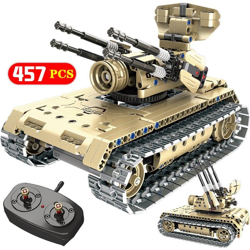 Technic RC contrôle aéronef sans pilote (UAV) route bataille réservoir véhicule construction Blcoks Compatible Legoed WW2 guerre militaire armes briques enfants garçons jouets