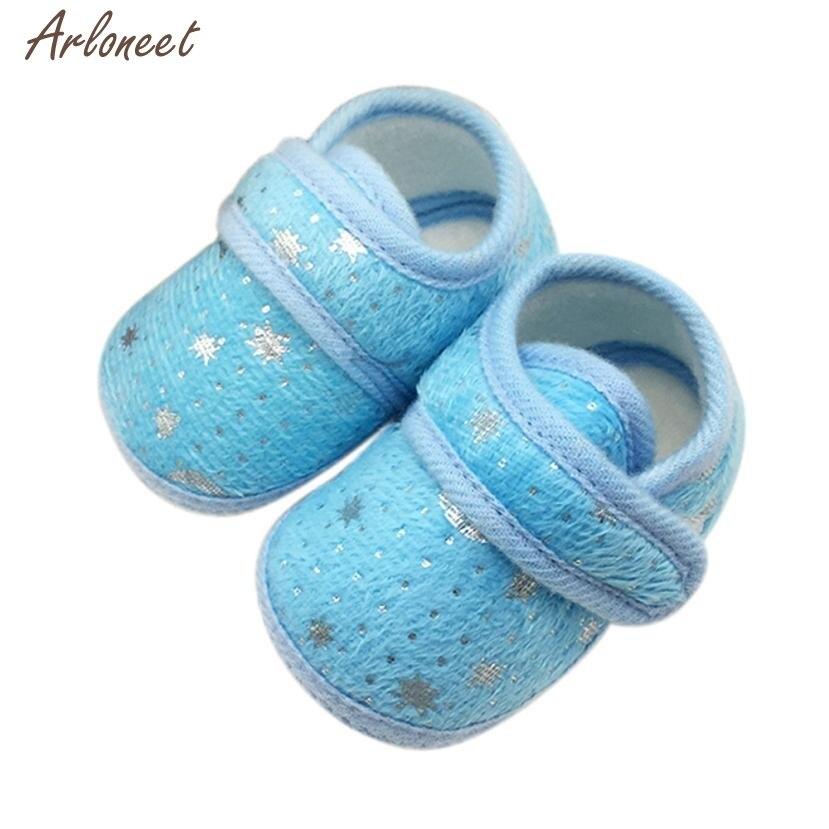 Октября 2017 звездное небо Отпечатано малышей мягкие Нескользящие Обувь для младенцев