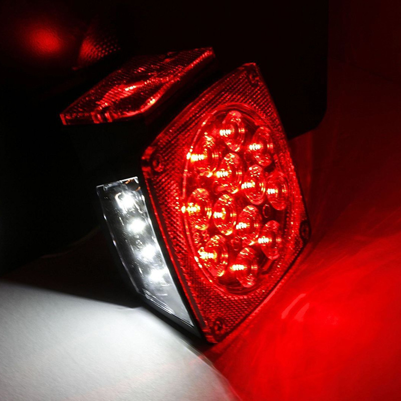 Rear Led Submersible Trailer Tail Lights Kit Boat Marker Truck Round Waterproof for trailers under 80 inches in width (8)