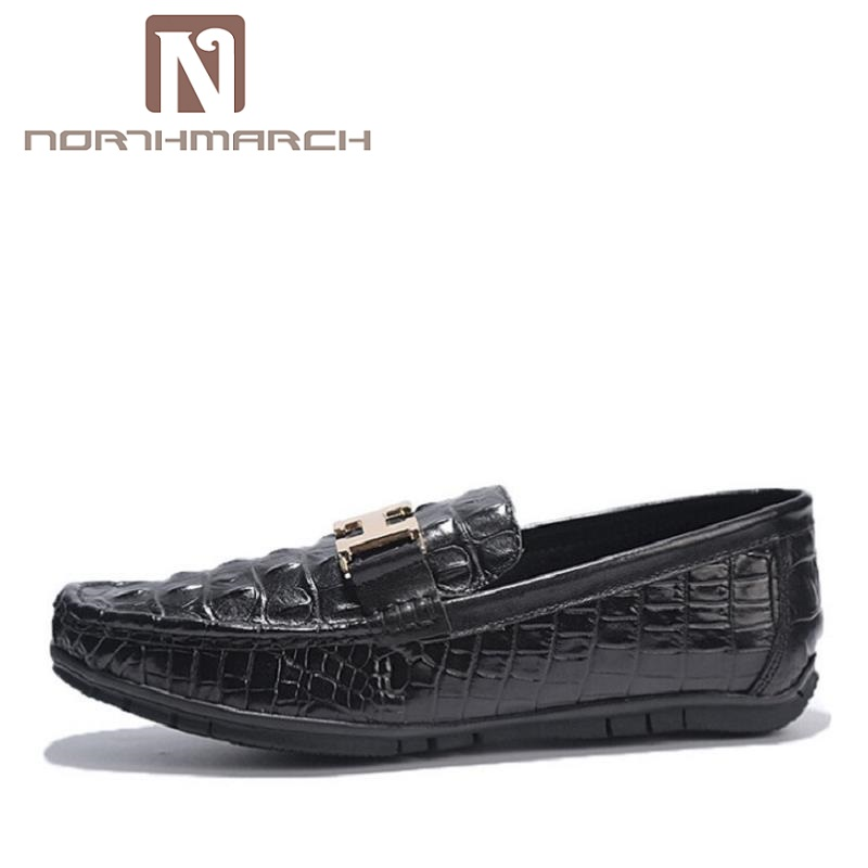 цена NORTHMARCH Men Casual Shoes 2018 Leather Men Loafers Shoes Slip On Men'S Flats Loafers Male Shoes Mocassin Homme