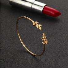 4pcs/1set Bracelet Geometric Leaf Knot Metal Chain Bracelet Bohemian Retro