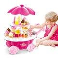 39 個を再生するふりおもちゃシミュレーションキャンディー音楽アイスクリームミニプッシュ車のおもちゃ早期教育のおもちゃガールギフト