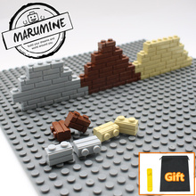MARUMINE My city 1x2 bricks 98283 Houses Building blocks compatible Learning Classic house DIY wall MOC Educational toy(China)