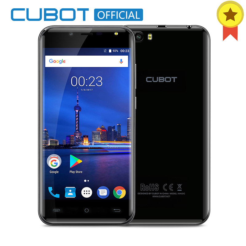 Cubot Magic 5.0 Inch HD Android 7.0 Smartphone MT6737 Quad Core 3GB RAM 16GB ROM 4G LTE 2600 mAh Dual Rear Cameras Mobile Phone