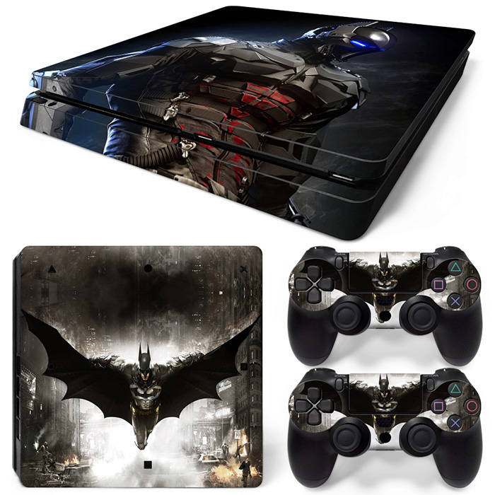 free drop shipping cover skin sticker for PS4 slim console PVC vinyl game decals for PS4 slim #TN-P4Slim-0074