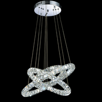 Luxury Crystal Chandeliers Lighting Modern LED Light Hanging Lamps Fixtures With 78W 3 Rings 406080CM CE