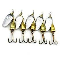 HENGJIA 1pcs Spoon Fishing Lure 7cm 8.5g Hard Fishing Spoon Lure Metal Jigging Lure Baits Spinner bait carp Fishing Tackle