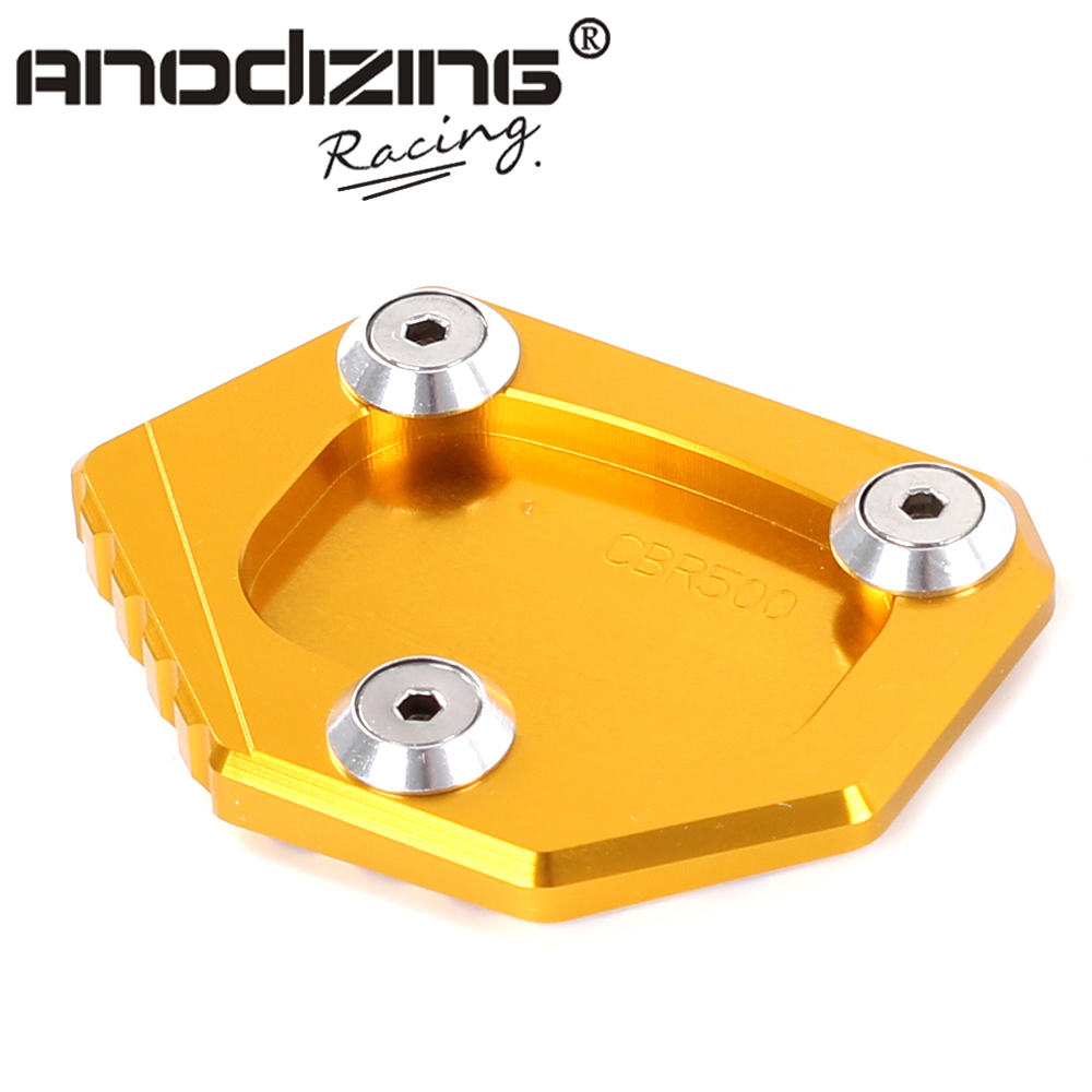 CNC Aluminum Motorcycle Side Stand Pad Enlargement Plate Kickstand Extension for HONDA NC700S/X/D INTEGRA CBR500R CB500F/X