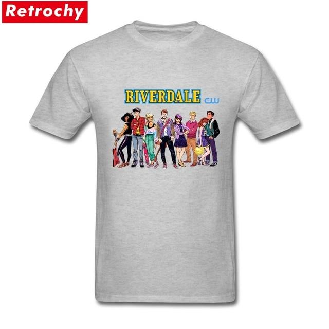 Riverdale De Beau Hommes T Shirt A Manches Courtes Doux Coton