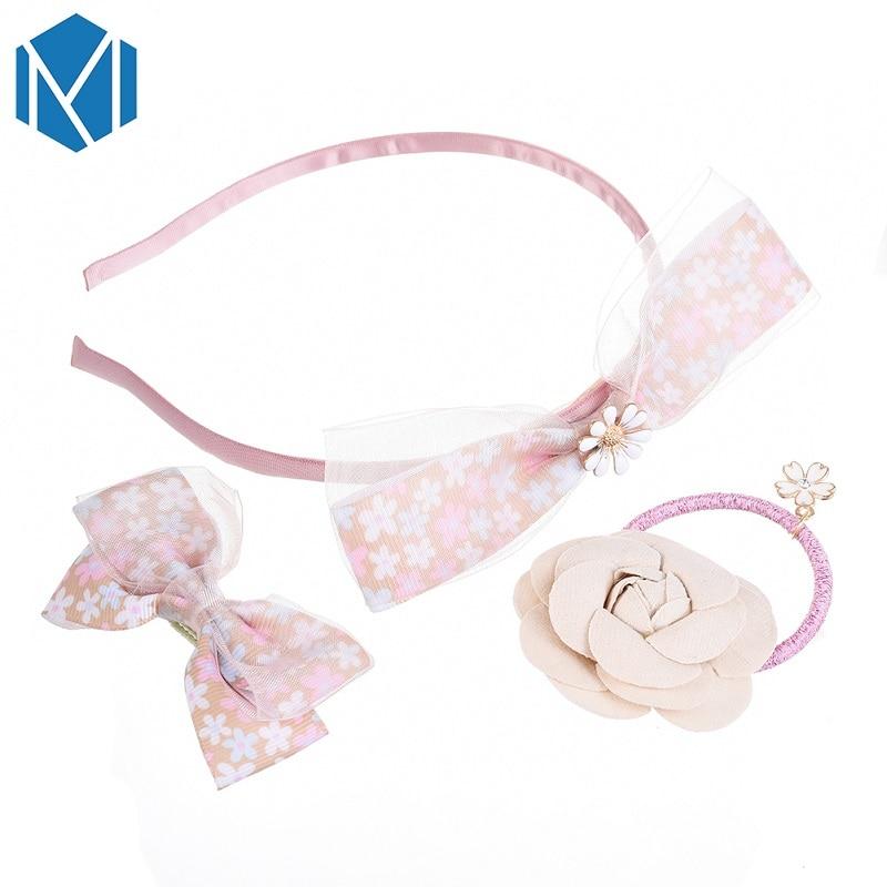 M MISM Kids Flolar Hair Clips&Scrunchy&Hairband Star Hair Gum Headband Tie Tiara Crown Children Hair Accessories Girls Hairpins