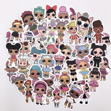 50pcs stickers personality childrens toys PVC graffiti suitcase car boot guitar waterproof