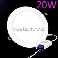 20W Led Panel Light AC85 265V Round LED ceiling light 1800lumens warm white led kitchen light for bathroom lamp Free Shipping