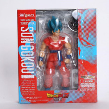 SHFiguarts Dragon Ball Z Resurrection F Son Gokou PVC Action Figure Collectible Model Toy 16cm Retail Box WU301