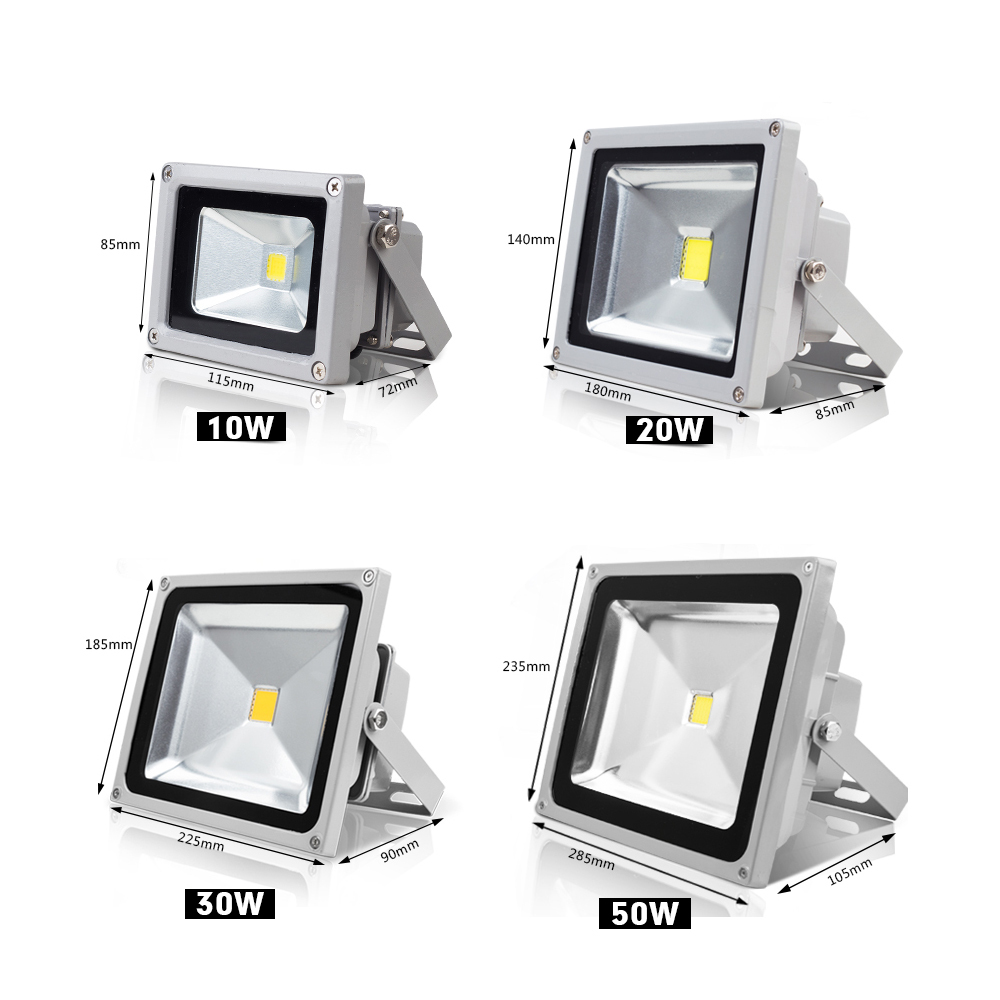 refletor led flood light 10w 20w 30w 50w 110v 220v proyector led floodlight projecteur led. Black Bedroom Furniture Sets. Home Design Ideas