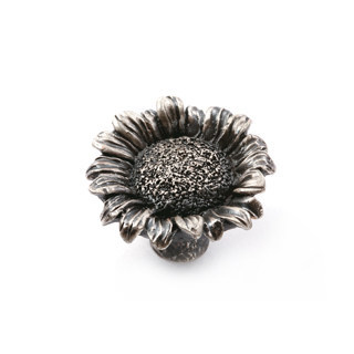 Chic sunflower pewter Kitchen Cabinet Knobs Drawer Dresser Pulls Handles Cupboard closet door knob Modern Furniture Hardware white black red blue drawer shoe cabinet knobs pulls yellow pink purple gray silver dresser cabinet handle modern children knob