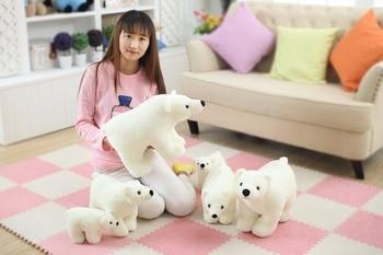 7.8 Inch Plush Polar Bear Sweet Cute Lovely Stuffed Baby Kids Toys for Girls Birthday Christmas Gift Cute Girl 20cm Baby Doll 8