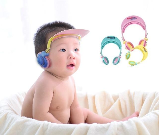Ajustable sombrero del bebé niño niños Shampoo baño ducha Cap protector del pe Caps orejas protección para los niños del cuidado del bebé