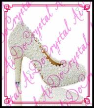 Custom White Color Wholesale Women Dress Shoes Bride Wedding Dress Shoes for Bridal