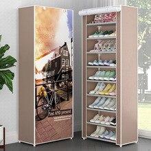 Многослойный стеллаж для обуви пылезащитный нетканый Тканевый шкаф для хранения обуви стенд держатель место сохранение обуви Органайзер стойка