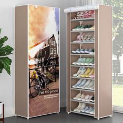 Многоуровневая стойка для обуви пылезащитный нетканый Тканевый шкаф для хранения обуви подставка держатель для экономии пространства