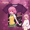 Japanese Anime To Love Ru Momo T-shirt Kawaii Polyester T Shirt Summer Active Otaku Men Women Tops