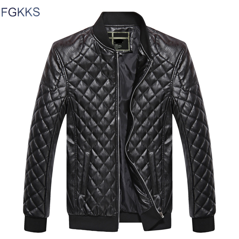FGKKS Brand Men Leather Jackets 2019 Winter Male Casual Leather Jacket Men's Comfortable PU Jackets Clothing