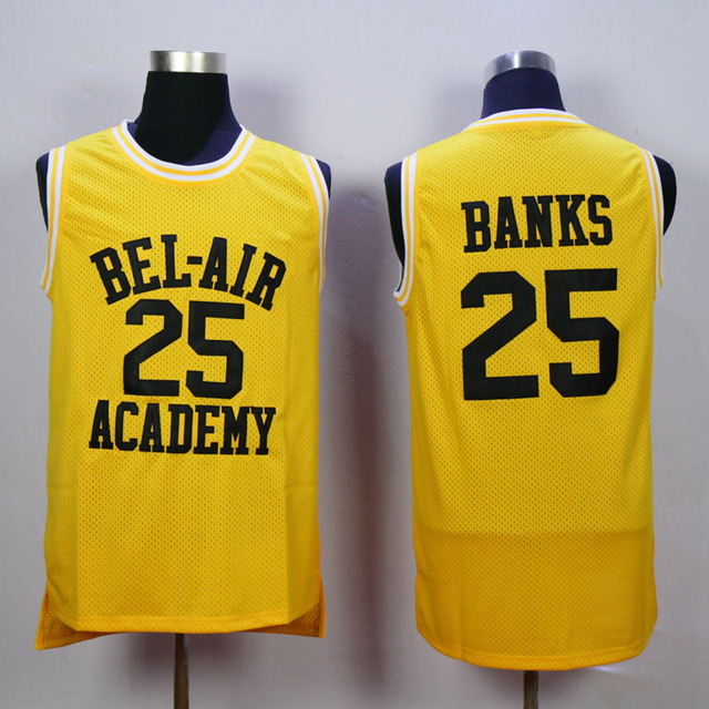 Stitched Fresh Prince of Bel Air Academy 25 Carlton Banks Jersey 14 Will  Smith Basketball Jersey Free Shipping Viva Villa 04a0ebe0c