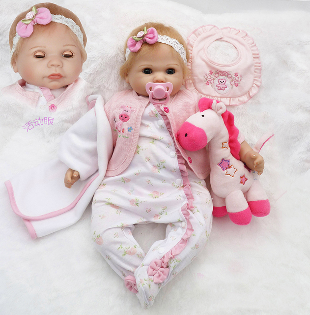 20 inch handmade open close blink eyes baby alive silicone reborn