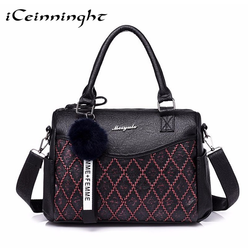 Women Pu Leather Handbags Shoulder Bag for Women 2018 Messenger Bag Female Sac a Main Designer Handbags High Quality Hand Bags 2017 letter prints hobos women bag leather shoulder bags designer handbags high quality messenger crossbody bag sac a main totes