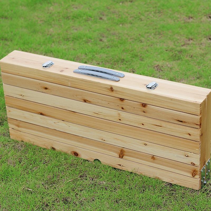lätt att ta bärbar aluminiumlegering vika picknickbord med fyra - Möbel - Foto 2