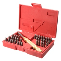 38Pcs Automatic Letter Number Stamping Metal Punch Stamp Set Tool Kit For Plastics Leather Mark Metal