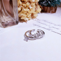 Wedding Jewelry Finger zircon Heart Crown Rings For Women Lover Female Engagement Party jewelry two in one Cubic Zirconia Ring