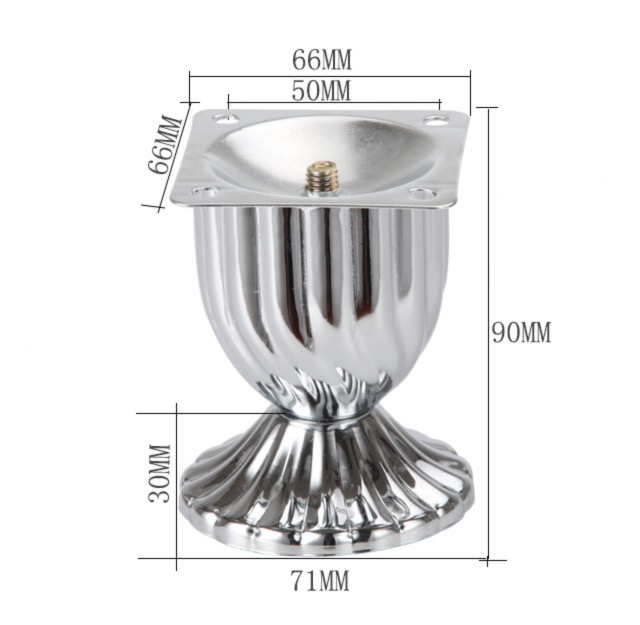 4Pieces Lot Height 90MM Iron Plating Sofa Foot Furniture Cupboard TV Cabinet Legs Feet in Furniture Legs from Furniture