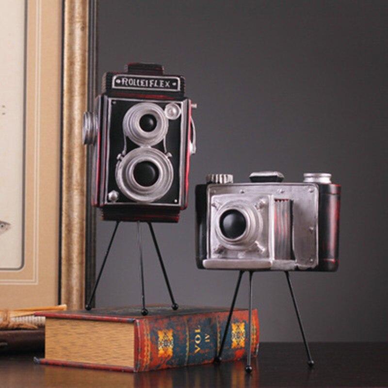 Creative Rose Old fashioned Camera Resin Art&Craft Sculpture Desktop Decoration Fashion Gifts G1964