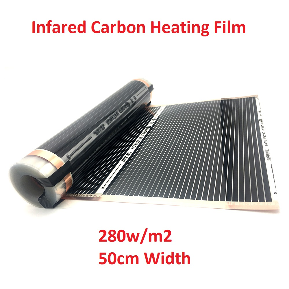 All Sizes 280w/m2 Infrared AC220V Carbon Underfloor Heating Film Energy Saving Warm Mat