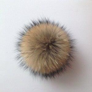 10cm prawdziwy szop pompon futrzany pompony dla kobiet dzieci czapki beanie czapki naturalna piłka na buty brelok torby