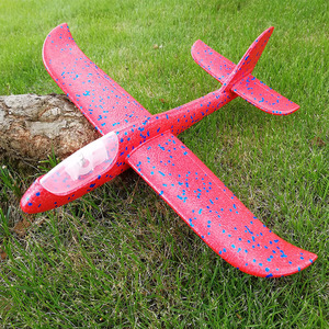 Image 4 - Kids DIY Airplane Model Hand Throw Flying Glider Plane Foam Fillers Aeroplane Led Flashing Aircraft Toys for Children Gift