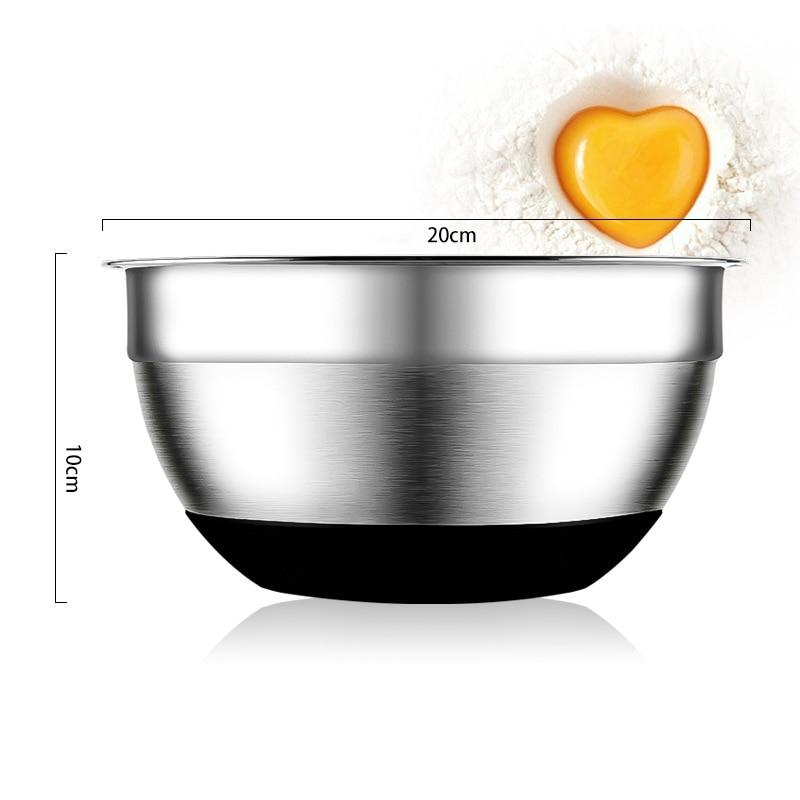 Нержавеющаясталь смешивания Чаши Нескользящая кремния Низ, верстка Чаши для экономии пространства для выпечки и кондитерских изделий Инс...