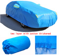 For VW polo golf fox Passat Tiguan Jetta firm two layer Car covers with cotton thicken Waterproof Anti UV Snow Dust cover of car